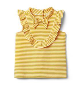 Striped Ruffle Bow Top