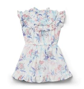 Disney Ariel Floral Ruffle Dress