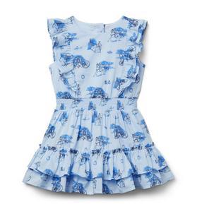 Disney Cinderella Smocked Ruffle Dress