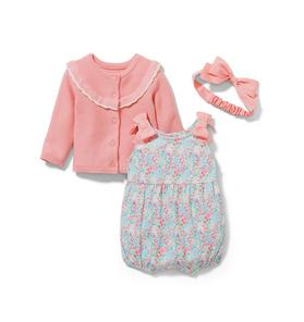 Baby 3-Piece Floral Romper Gift Box