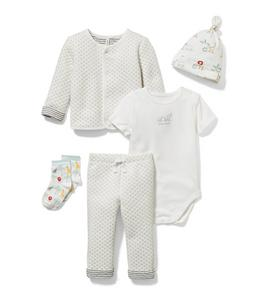 Baby 5-Piece Quilted White Gift Box