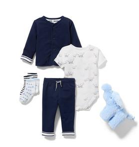 Baby 5-Piece Navy Gift Box