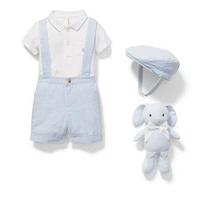 Baby 4-Piece Boy Seersucker Gift Box