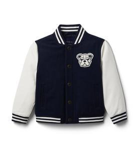 Varsity Wool Bomber Jacket