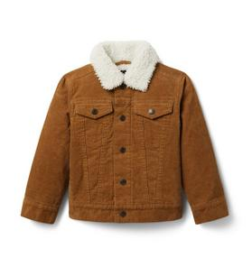 Corduroy Trucker Sherpa Collar Jacket