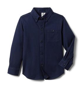 Jersey Button-Up Shirt
