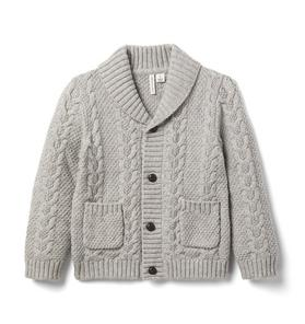 The Cable Knit Shawl Collar Cardigan