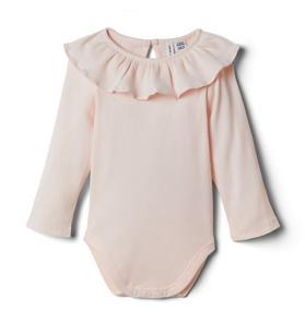 Baby Ruffle Collar Ribbed Bodysuit