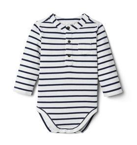 Baby Striped Henley Bodysuit