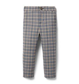 Plaid Tapered Jogger