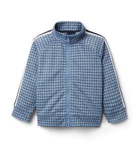 Plaid Jacquard Side Stripe Jacket