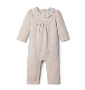 Baby Quilted Ruffle Collar 1-Piece