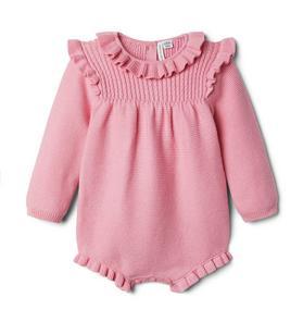 Baby Ruffle Sweater Romper