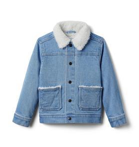 Denim Sherpa Lined Jacket