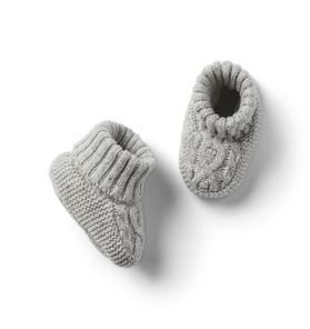 Baby Sweater Cable Knit Bootie