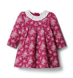 Baby Floral Ruffle Collar Dress