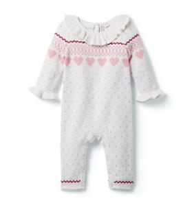 Baby Heart Fair Isle Sweater 1-Piece