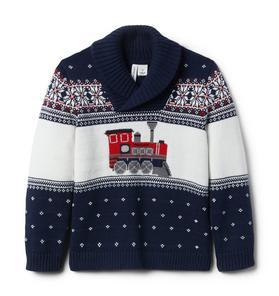Train Shawl Collar Sweater