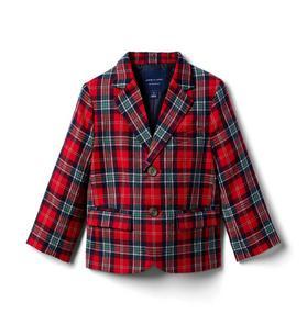 Plaid Wool Blazer