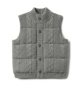Cable Knit Puffer Vest