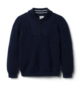Textured Henley Sweater