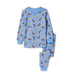 Santa Hat Dog Pajama Set