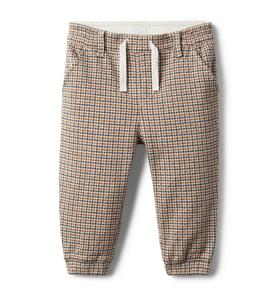 Baby Houndstooth Pull-On Pant