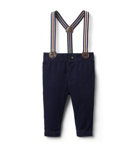 Baby Corduroy Suspender Pant