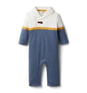 Baby Shawl Stripe 1-Piece