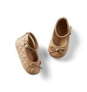 Baby Quilted Bow Flat