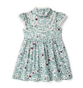 Floral Lace Trim Dress
