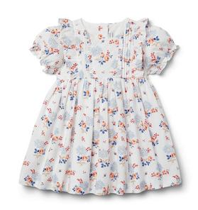 Baby Floral Pintuck Dress