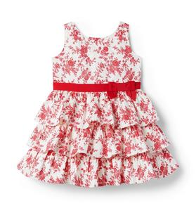 Toile Ruffle Dress