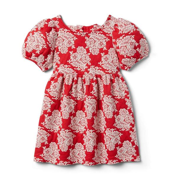 Janie and Jack Floral Puff Sleeve Dress