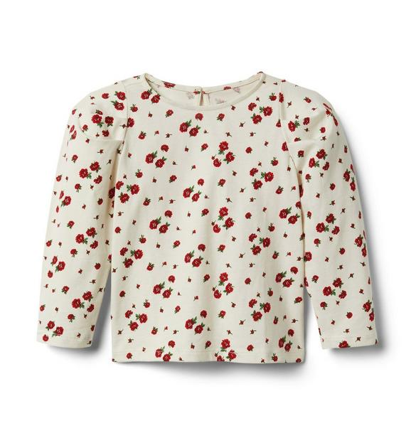 Janie and Jack Rose Puff Sleeve Top