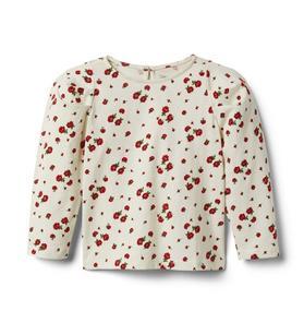 Rose Puff Sleeve Top