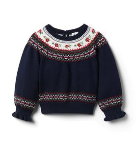Rose Fair Isle Sweater