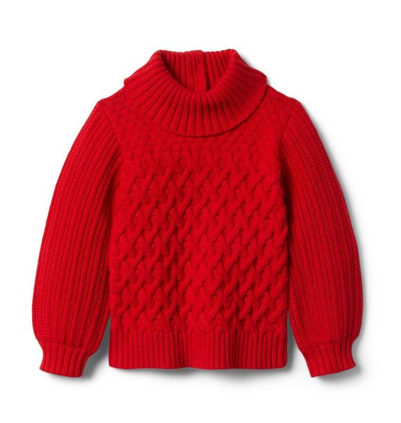 Janie and Jack Textured Balloon Sleeve Sweater