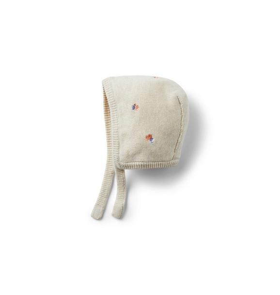 Baby Embroidered Sweater Bonnet