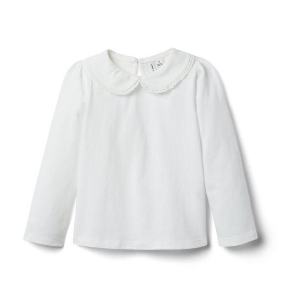 Janie and Jack Lace Trim Collar Top