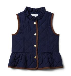 The Quilted Peplum Vest