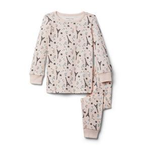 Parisian Poodle Pajama Set