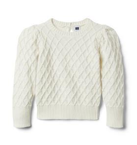 Textured Puff Sleeve Sweater