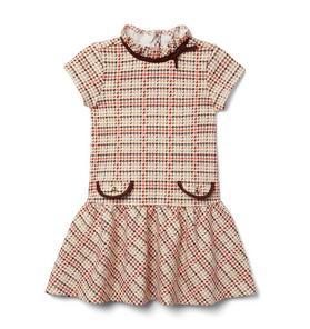 Plaid Dropwaist Jacquard Dress