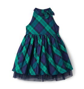 Plaid Tulle Dress