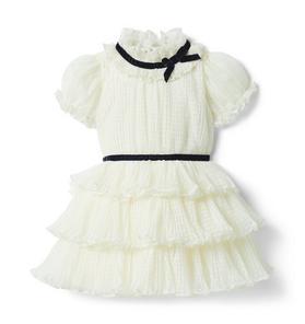 Dot Puff Sleeve Dress