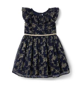 Glitter Floral Dress