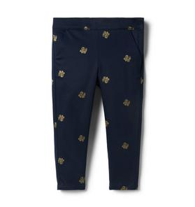 Glitter Floral Sateen Pant