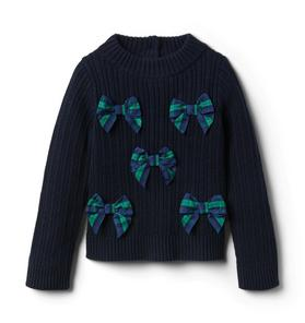 Plaid Bow Sweater