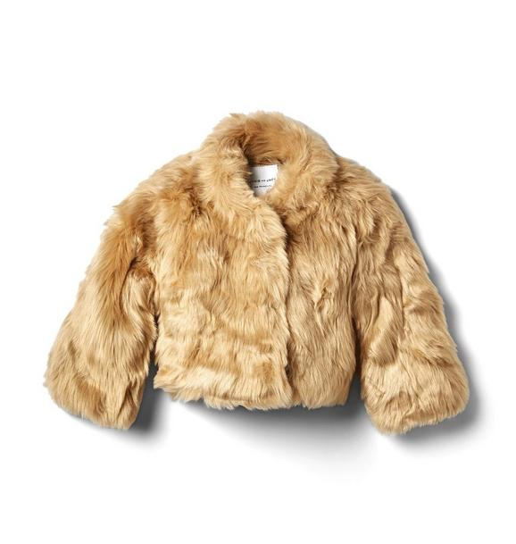 Janie and Jack Faux Fur Cropped Coat